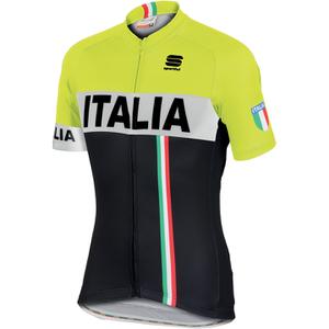 Sportful Italia IT Short Sleeve Jersey - Black/Yellow