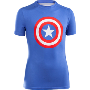 Under Armour Boy's Transform Yourself Captain America Baselayer - Blue
