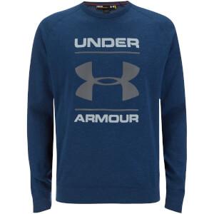 Under Armour Men's Tri-Blend Chest Graphic Crew Sweatshirt - Navy Blue