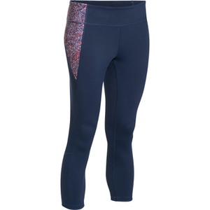 Under Armour Women's Mirror Printed Crop Leggings - Navy Blue