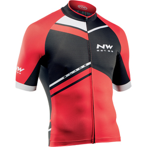 Northwave Blade Air Full Zip Short Sleeve Jersey - Black/Red