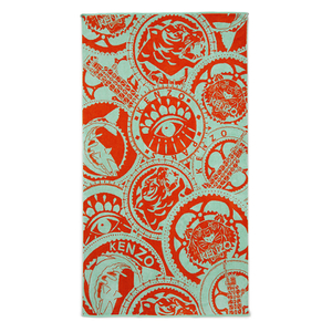 KENZO Medaille Beach Towel - Mint