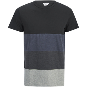 Jack & Jones Men's Core Dylan Block Stripe T-Shirt - Black