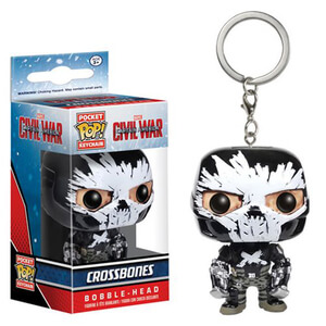 Captain America: Civil War Crossbones Pocket Pop! Key Chain