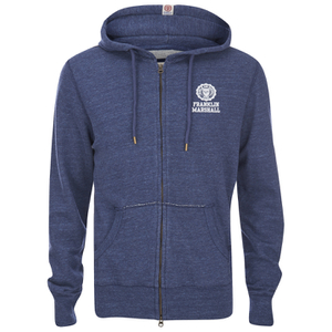 Franklin & Marshall Small Logo Zip Through Hoody - Blue Melange