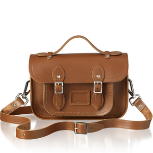 The Cambridge Satchel Company Women's Mini Magnetic Leather Satchel with Branded Hardware - Vintage