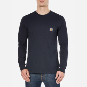 Carhartt Men's Long Sleeve Pocket T-Shirt - Navy Heather