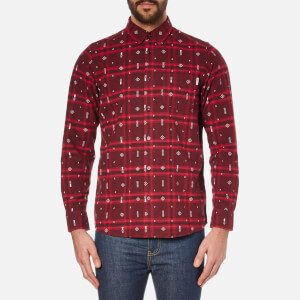 Carhartt Men's Long Sleeve Carlos Origin Shirt - Carlos Check Chianti