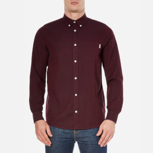 Carhartt Men's Long Sleeve Dalton Shirt - Chianti/Navy