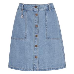 ONLY Women's Farrah A-Line Denim Skirt- Light Blue Denim
