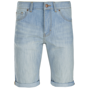 Threadbare Men's Denim Shorts - Light Wash