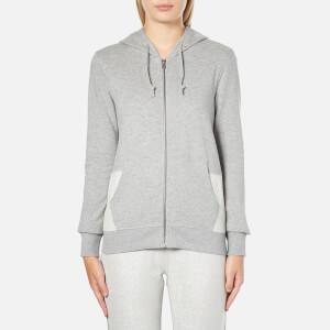 Converse Women's All Star Metallic Full Zip Hoody - Vintage Grey Heather