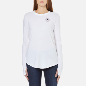 Converse Women's All Star Core Left Chest Chuck P. Long Sleeve T-Shirt - White