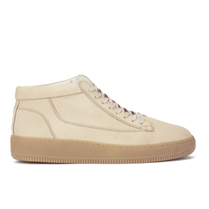 ETQ. Men's Mid Top 1 Leather Trainers - Cappuccino Gum Virtus