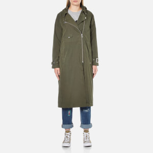 OBEY Clothing Women's Easy Rider Trench Coat - Forest Green