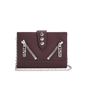 KENZO Women's Kalifornia Wallet on a Chain Crossbody Bag - Bordeaux