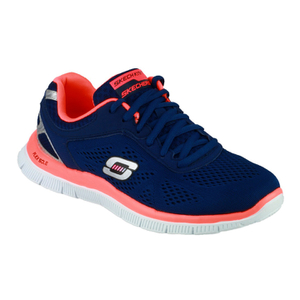 Skechers Women's Flex Appeal Love Your Style Low Top Trainers - Blue