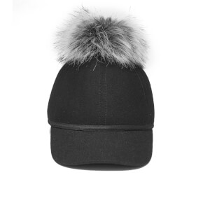 Charlotte Simone Women's Sass Cap Single Pom - Silver - One Size