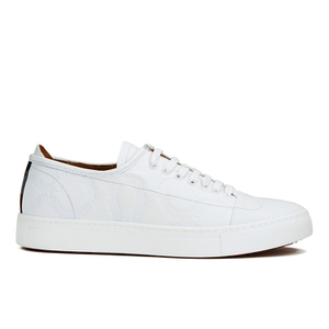 Vivienne Westwood MAN Men's Embossed Squiggle Leather Oxford Trainers - White