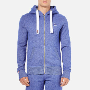Superdry Men's Orange Label Cali Zip Hoody - Mazarine Blue Mega Grit