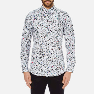 PS by Paul Smith Men's All Over Print Long Sleeve Shirt - White