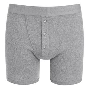 Levi's Men's Long Button Boxers - Grey