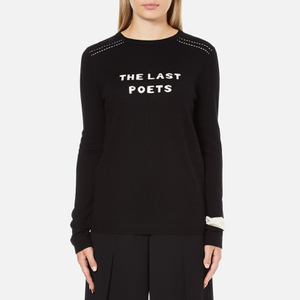 Bella Freud Women's The Last Poets Merino Wool Jumper - Black