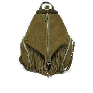 Rebecca Minkoff Women's Fringed Medium Julian Backpack - Olive