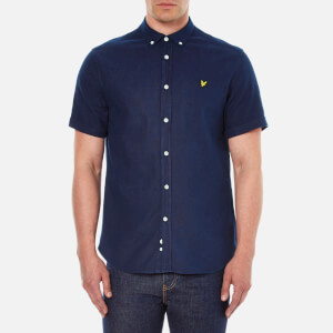 Lyle & Scott Vintage Men's Short Sleeve Indigo Oxford Shirt - Dark Indigo