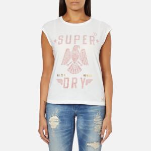 Superdry Women's Savanna Fringe T-Shirt - Winter White