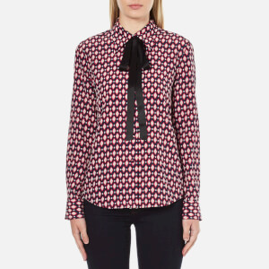 Marc Jacobs Women's Button Down Shirt With Tie - Multi