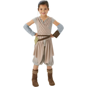Star Wars Girls' Deluxe Rey Fancy Dress
