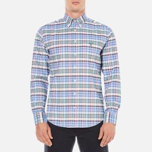 GANT Men's Comfort Oxford Plaid Shirt - Clear Red