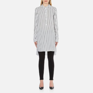 McQ Alexander McQueen Women's Tunic Shirt Dress - White/Black Stripe