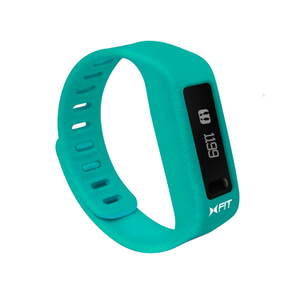 Xtreme Cables Xfit Bluetooth Water Resistant Fitness Tracker and Watch (Including App) - Turquoise