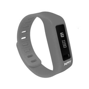Xtreme Cables Xfit Bluetooth Water Resistant Fitness Tracker and Watch (Including App) - Grey