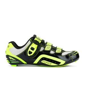 Force Race Carbon Cycling Shoes - Black/Fluro