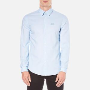 BOSS Green Men's C-Buster Logo Long Sleeve Shirt - Blue
