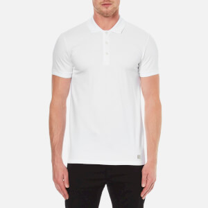 Versace Collection Men's Collar Detail Polo Shirt - White
