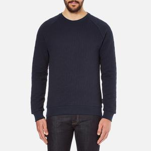 J.Lindeberg Men's Chad Pattern Sweatshirt - Blue