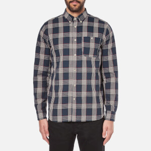 A Kind of Guise Men's Sístán Long Sleeve Shirt - Sand Check