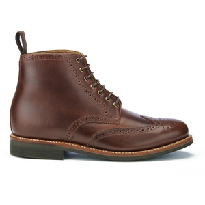 Grenson Men's Sharp Pull Up Leather Lace Up Boots - Chestnut