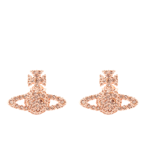 Vivienne Westwood Jewellery Women's Grace Bas Relief Stud Earrings - Pink Gold