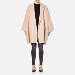 Helmut Lang Women's Double Face Wool Cape Coat - Dusty Pink