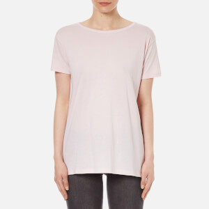 Helmut Lang Women's Feather Jersey Open Back T-Shirt - Mauve