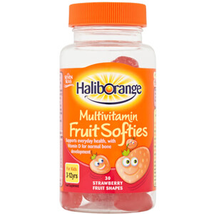 Haliborange Kids Multivitamin Softies - 30 Strawberry Fruit Shapes