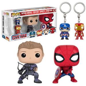 Captain America: Civil War Funko Pop! Figuren en Sleutelhangers 4-pack