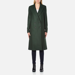 PS by Paul Smith Women's Double Breasted Wool Cashmere Coat - Green
