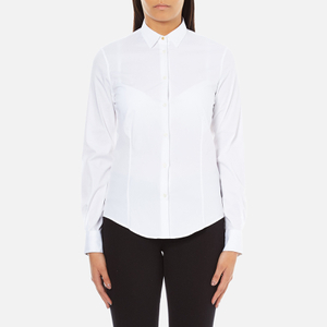 PS by Paul Smith Women's White Classic Shirt With Spot Cuff - White