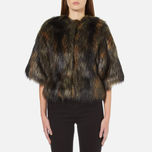 PS by Paul Smith Women's Faux Fur Shrug Coat - Multi